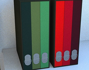 A4 folders 3D model