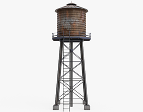 3D asset game-ready PBR Water Tower