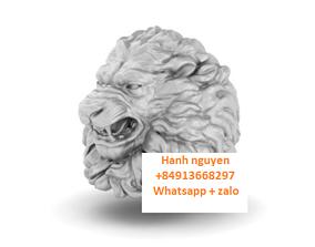 3D printable model Men ring Lion head