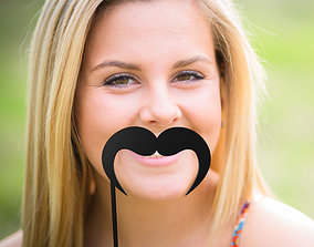 3D print model Mustache Mustache Stick fashion-challenge