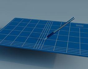 3D model Scalpel and Cutting Mat