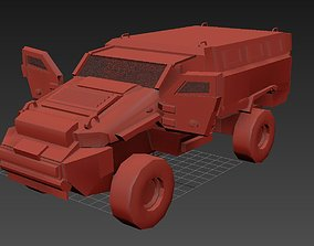 Sci-Fi Military MRAP Vehicle with interior 3D asset