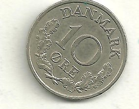 Texture set of 38 coin types of Denmark 3D