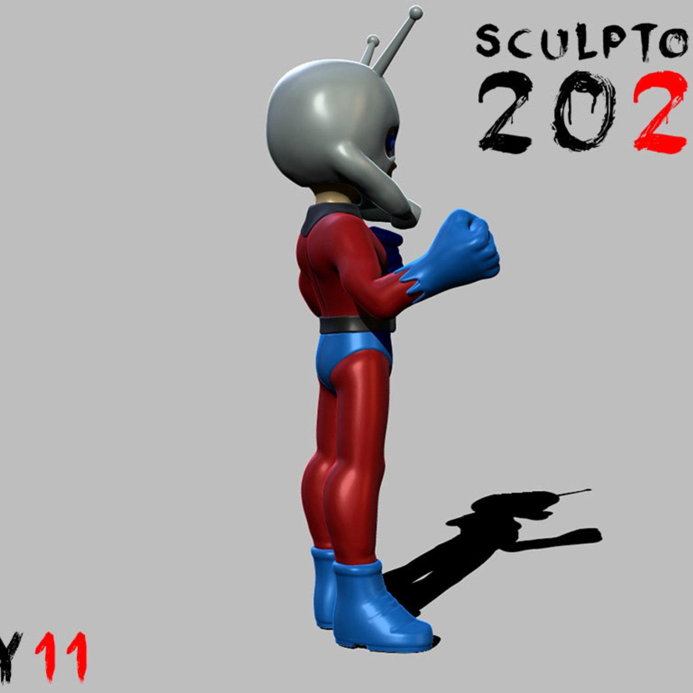 Sculptober Day 11 Ant Man