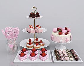 3D Strawberry candy bar