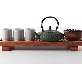 Tea Set with Blackberry 3D model