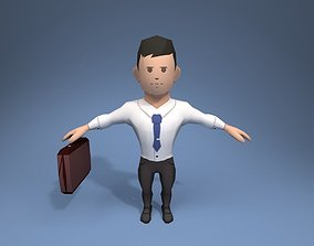 Lawyer office employee 3D model