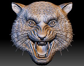 Tiger head STL file 3d model - relief for CNC router