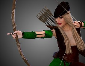 3D Lady Robin Hood