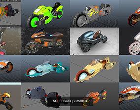 SCI-FI Bikes 3D model