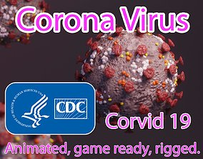 3D model Corvid 19 Corona Virus