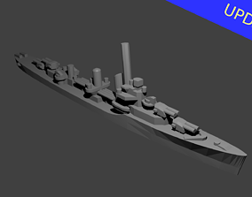 US Porter Class Destroyer Warship 3D print model