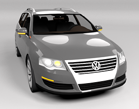 VW VOLKSWAGEN PASSAT VARIANT B6 3D asset