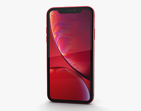 electronics 3D model Apple iPhone XR Red