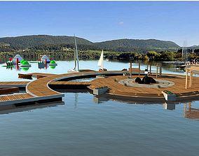 water pontoon promenade 3D model
