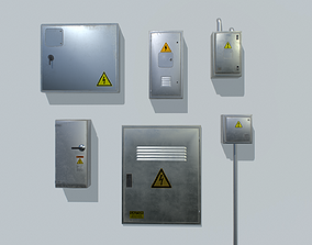 3D asset Electrical Box Pack 2