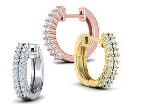 Diamond Earrings Two arrow of Diamonds 3D printable model