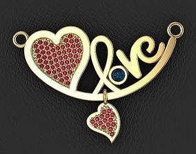 3D print model love necklace jewelry designer