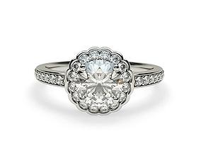 fancy solitaire diamond rings 3D print model