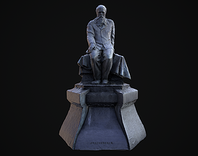 3D asset Monument to Fyodor Dostoevsky