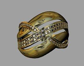 platinum 3D print model Fashion Women Ring