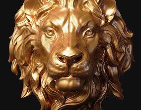 artistic Lion Head 3D print model