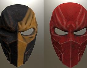 Deathstroke and Red Hood Helmets 3D print model