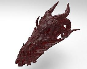 dragon skull easel 3D print model