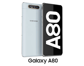 3D model Samsung Galaxy A80 Ghost White