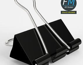 Closed binder clip 1 3D model