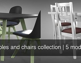 3D model PBR Tables and chairs collection