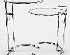 Eileen Gray Adjustable Cigarette Table 3D