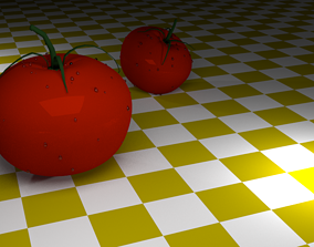 Tomatoes 3D model realtime