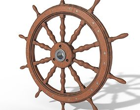 3D model Hand Wheel of ships PBR low poly