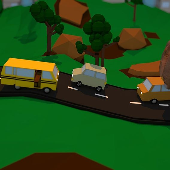 My Low Poly Town
