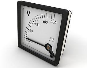Panel DC Voltmeter 3D