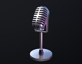 3D model Microphone retro