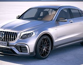 3D model Mercedes GLC63 S AMG Coupe 2018