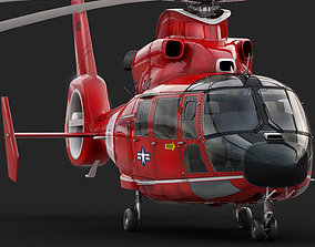 3D model Eurocopter AS 365 Dauphin US Coast Guard
