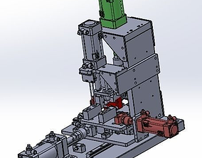 3D model pneumatic clamp