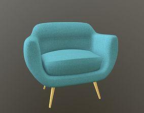 3D asset Scandinavian Armchair
