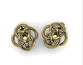 3D print model 12 Earrings Symbol KNOT OF ENDLESS LUCK