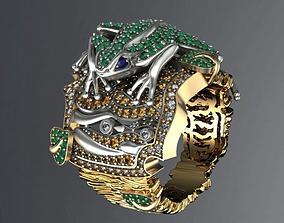 3D print model Gevorgian Tree frog jewel ring