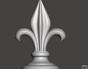 WoodCarving Finial - 3d model for CNC - FinialCFC03