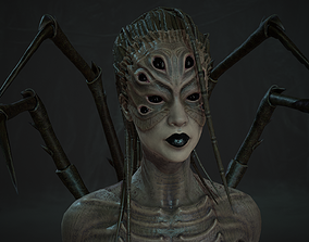3D model Spider woman monster