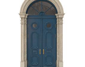 3D Entrance classic door 22
