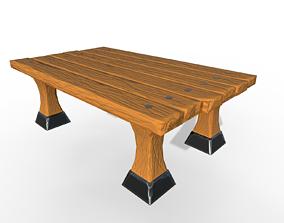 3D asset Stylized table