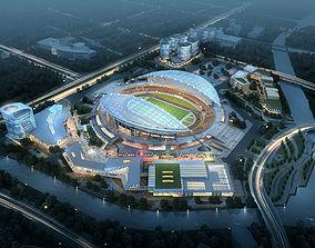3D Sports Stadium 002