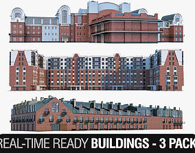 Residential Buildings Collection 3D asset
