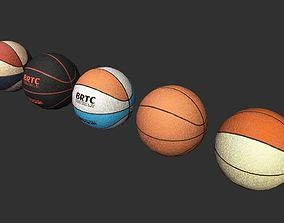 3D model basketballs lowpoly